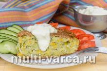 Овощная запеканка из кабачков и картофеля в мультиварке