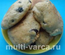 Маковое печенье с изюмом в мультиварке