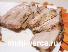 Домашняя буженина из свинины в мультиварке Редмонд