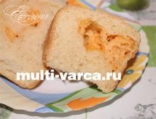 Дрожжевой пирог с сыром в мультиварке