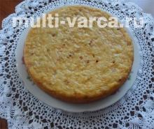 Апельсиновый пирог с облепихой в мультиварке