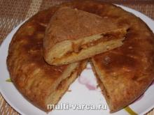 Пирог с капустой из творожного теста в мультиварке