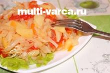 Тушеная картошка с капустой в мультиварке