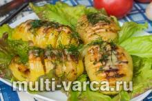 Картофель по-шведски с сыром в мультиварке