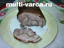 Рулет из свиной рульки в мультиварке