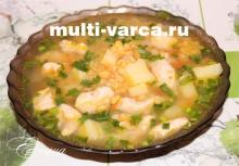 Гороховый суп в мультиварке панасоник
