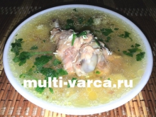 Куриный суп в мультиварке-скороварке