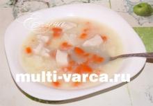 Суп с курицей и рисом в мультиварке
