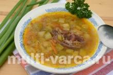 Гречневый суп с кабачком в мультиварке-скороварке