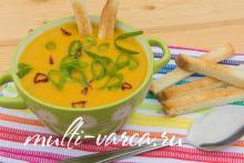 Морковный суп-пюре в мультиварке-скороварке