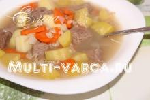 Овсяный суп из кабачков в мультиварке