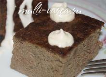Печеночное суфле в мультиварке для детей, рецепт с фото