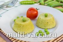 Суфле из зелёного горошка