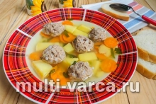 Картофельный суп с фрикадельками Редмонд