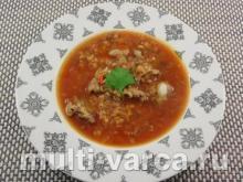 Томатный суп с чечевицей в мультиварке
