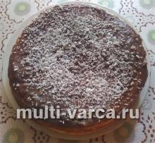 Бисквитный торт с заварным кремом в мультиварке