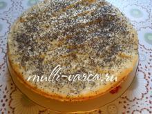 Маковый торт в мультиварке