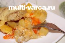 Рыба треска с картошкой в мультиварке
