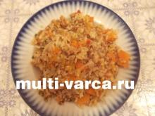 Тыквенная каша с рисом и гречкой в мультиварке