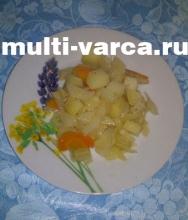 Тушеные овощи в мультиварке под сметанным соусом