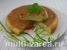 Заливной пирог с цветной капустой и брокколи в мультиварке