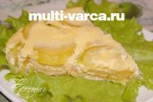 Кабачковая запеканка с сыром в мультиварке
