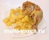 Жареные куриные ножки с картошкой в мультиварке Редмонд