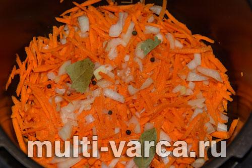 потушить рыбу с морковью и луком в мультиварке