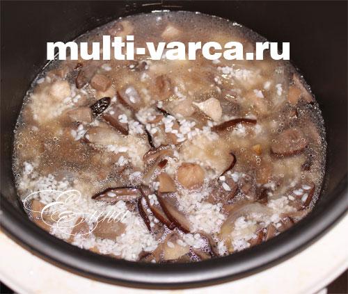 Грибы с рисом в мультиварке. Шаг четвертый