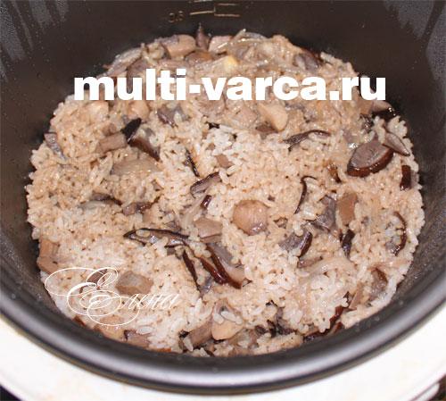 Грибы с рисом в мультиварке. Шаг пятый