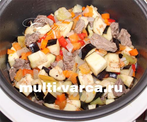 говядина и баклажаны в мультиварке рецепты
