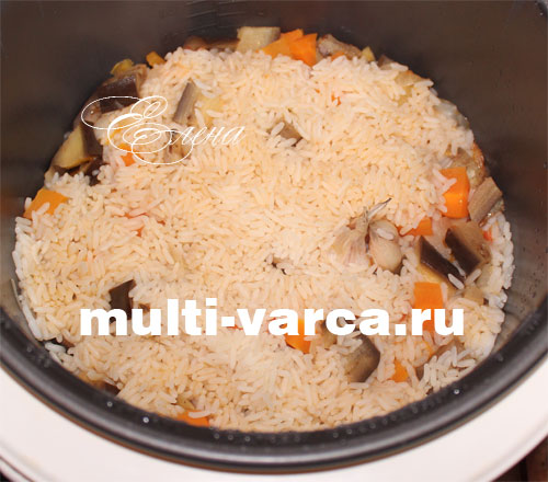 Баклажаны с рисом в мультиварке. Шаг шестой