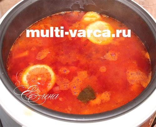 Борщ в мультиварке с фасолью пошаговый рецепт с