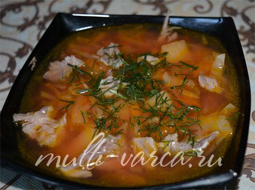 Борщ со свежей капустой в мультиварке рецепт с фото