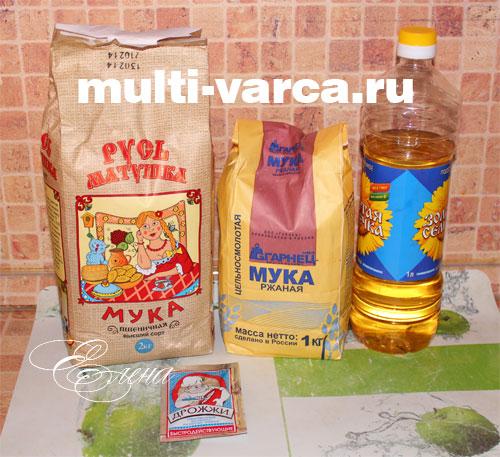 Ингредиенты для приготовления ржаного хлеба