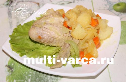 Рецепты овощное рагу с курицей