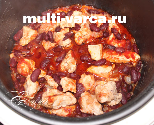 Красная фасоль с курицей в мультиварке рецепты с фото