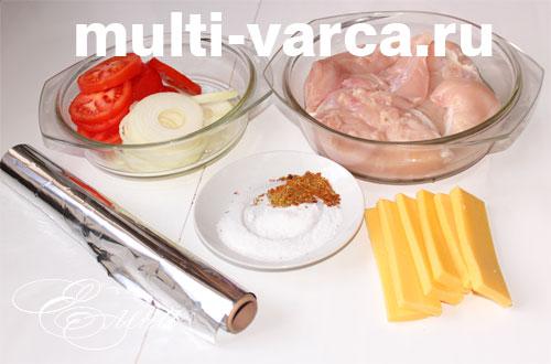 Ингредиенты для приготовления запеченной курицы в мультиварке