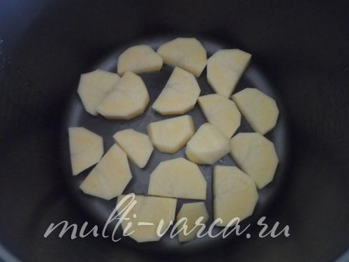 Скумбрия запеченная с картошкой
