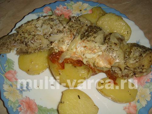 рецепт трески с картошкой в сливках в духовке