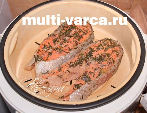 как приготовить стейк из свинины в мультиварке на пару
