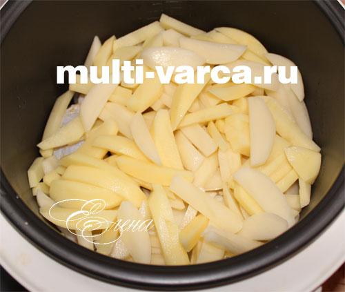 картошка с куриными голенями в мультиварке рецепты