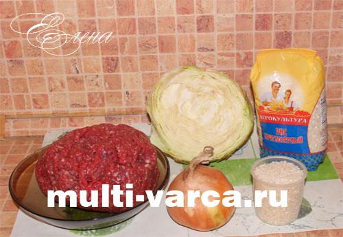 Рецепт капусты тушеной с фаршем и рисом в мультиварке 188