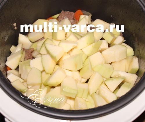 рецепт картошки с говядиной и овощами в мультиварке