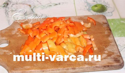 Тушеная индейка с картошкой и овощами в мультиварке. Шаг второй