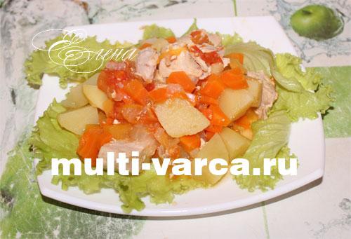 Тушеная индейка с картошкой и овощами в мультиварке. Шаг десятый