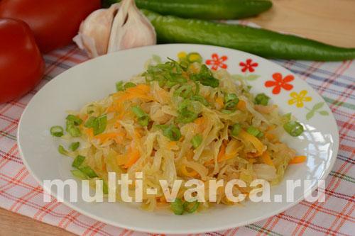 рецепты для мультиварки потушить капусту