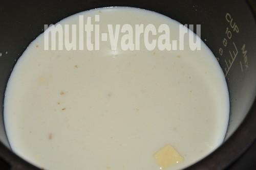 Молочная геркулесовая каша в мультиварке