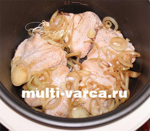 куриные бедрышки в мультиварке с картошкой