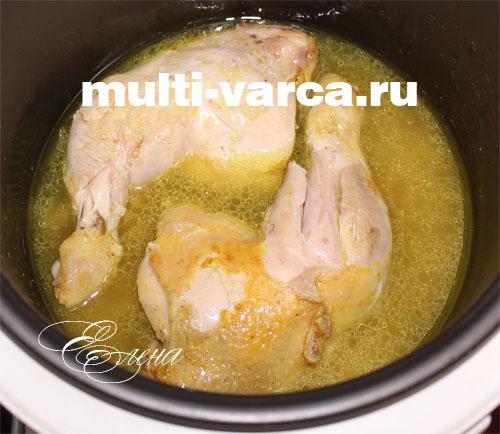 как приготовить курицу с рисом в мультиварке